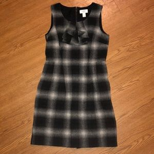 LOFT Wool Dress w/Zipper Back. Size 2P.